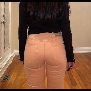 Zara coral colour jeans premium collection